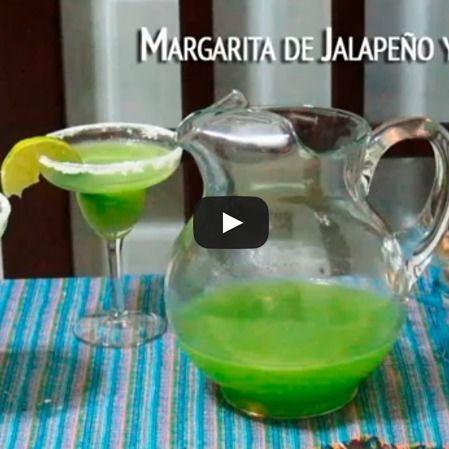 Margarita de jalapeño y pepino