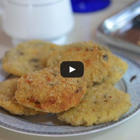 Croquetas de risotto y mozzarella