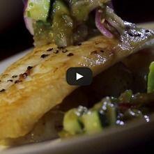Tilapia en salsa verde de pescado