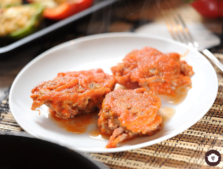 Tortitas de carne de res