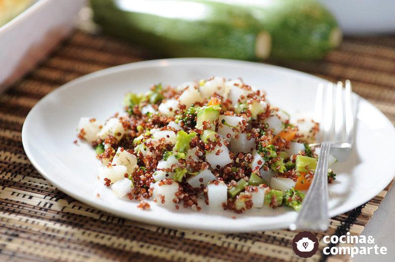 receta quinoa con vegetales cyc