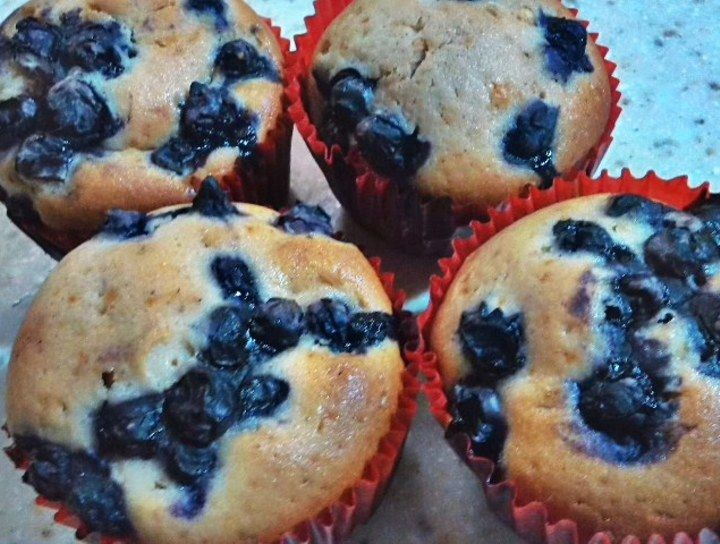 Muffins de mora azul