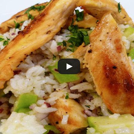 Ensalada de pollo con arroz