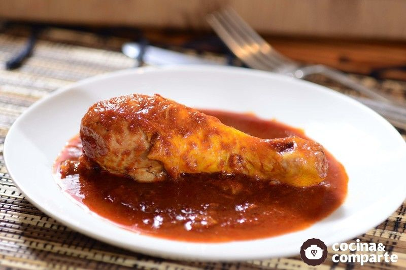 Pollo en ajo y chileancho