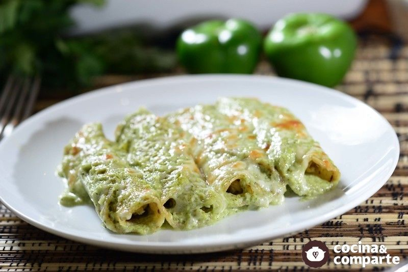 Tacos verdes horneados