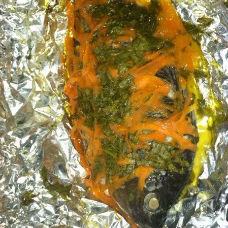 Pescado a la zanahoria