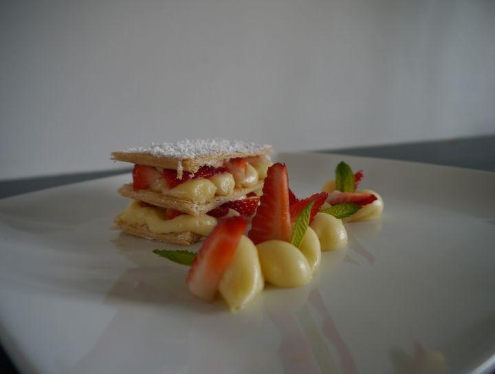 Crema pastelera y mil-hojas