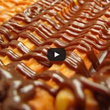 Churros mexicanos con salsa de chocolate