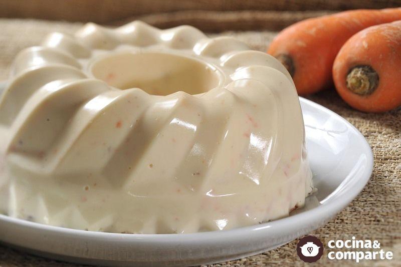Gelatina de zanahoria con piña y nuez