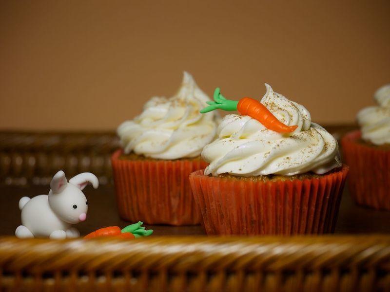 Cupcakes de zanahoria con frosting de queso crema