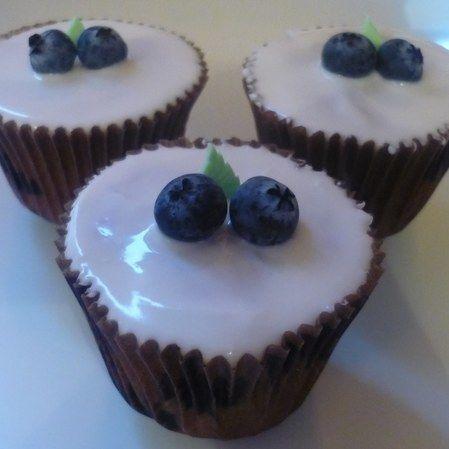 Cupcakes de soya y arándanos