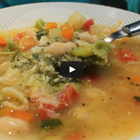 Sopa minestrone verde