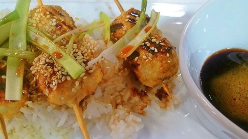 Albóndigas de pollo estilo japonés