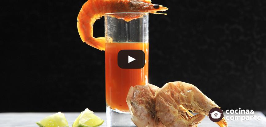 Caldo de camarón estilo cantina