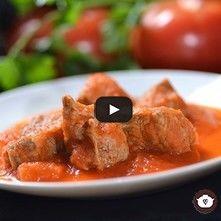 Carne en salsa de morita