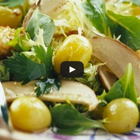 Ensalada de uvas con pollo
