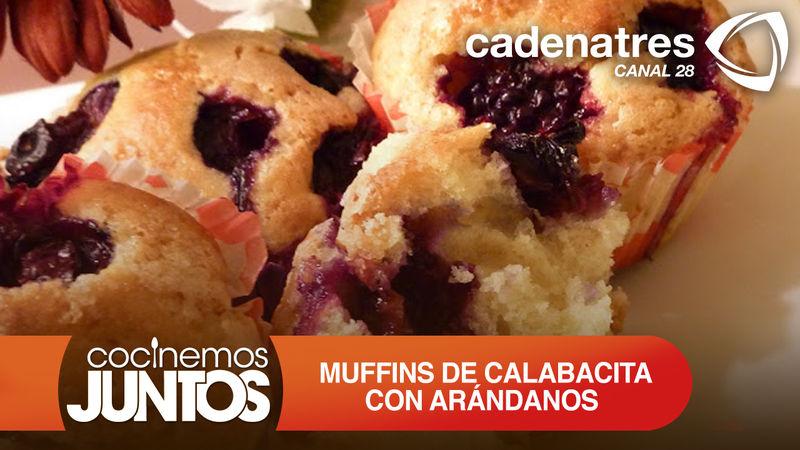 Muffins de calabacita con arándanos