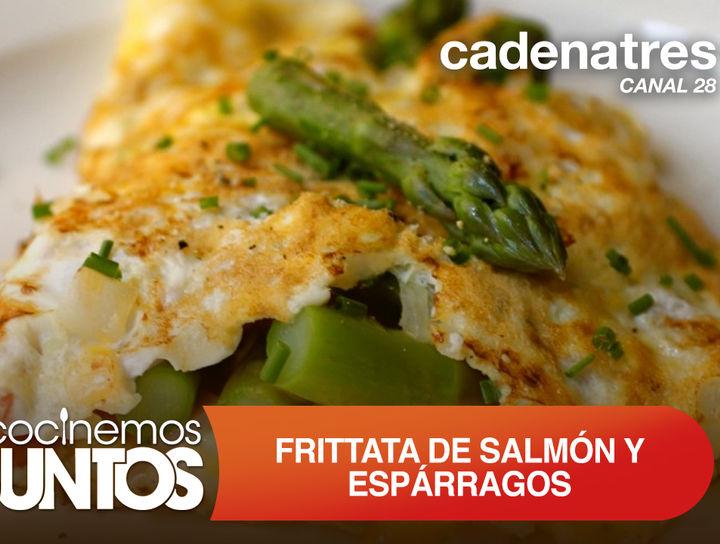 Frittata de salmón y espárragos