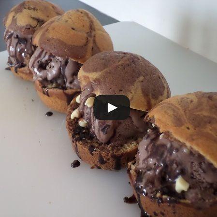 Muffins con helado