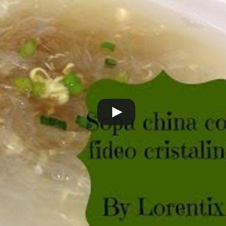 Sopa china con fideos cristalinos