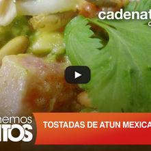 Tostadas de atún mexicano