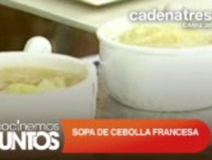 Sopa de cebolla francesa