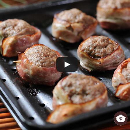 Rollitos de carne con tocino