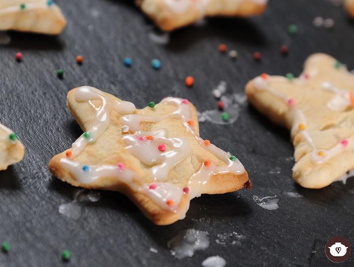 Galletas de estrellas navideñas