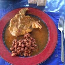 Lomo de puerco en salsa de chile morita