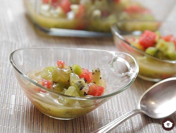 Frutas con menta y lima