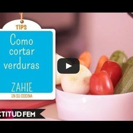 Cómo cortar verduras