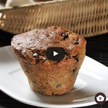 Bollitos (muffins) de plátano con chocolate