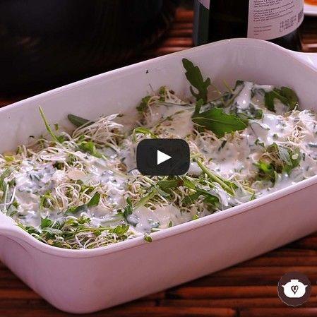 Ensalada de germen con aderezo de yogur