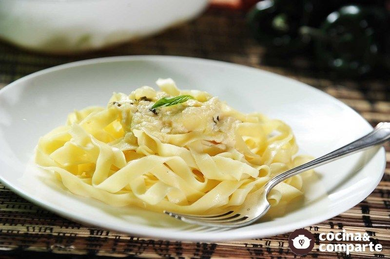 Fetuccini a los cuatro quesos