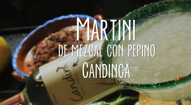 Martini de mezcal con pepino