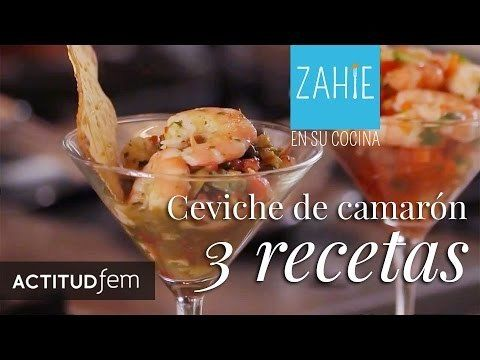 Ceviche de camarón en tres versiones