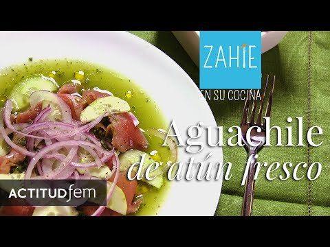 Aguachile de atún fresco estilo Mazatlán