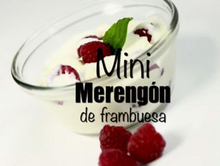 Mini merengón de frambuesa