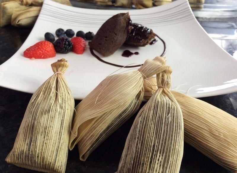 Tamales de chocolate
