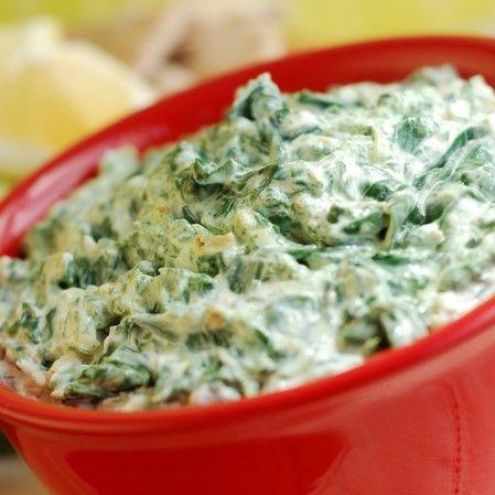 Dip de queso con espinacas y alcachofa