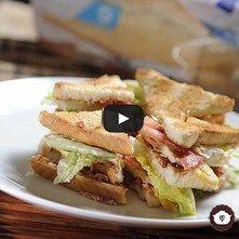 Club sándwich de pollo