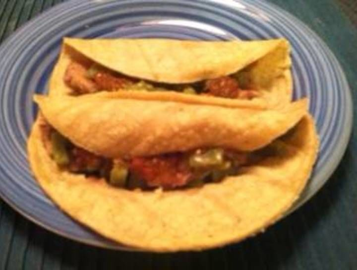 Tacos de nopal con frijoles