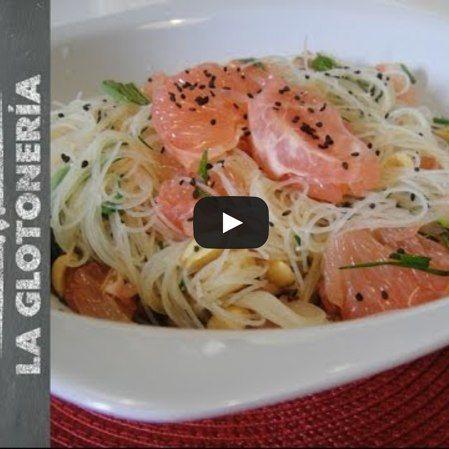 Increíble pasta con ensalada Monsoon