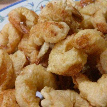 Camarones tempurizados