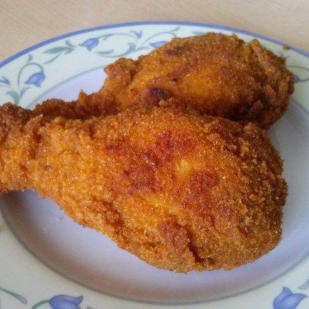 Pollo frito con especias