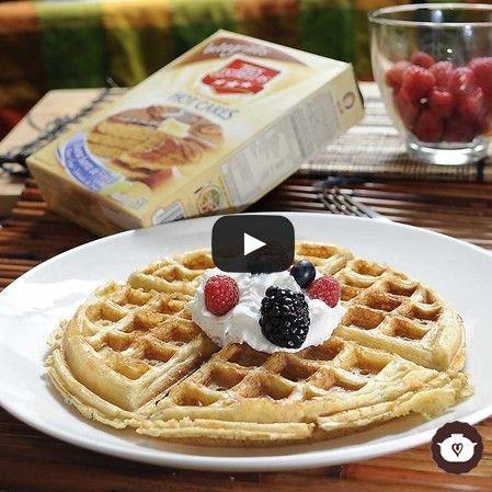 Waffles de frutos rojos del bosque