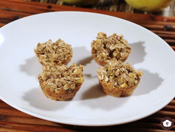 Cup cakes de quinoa y manzana sin gluten