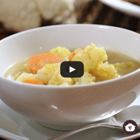 Sopa de quinoa con curry