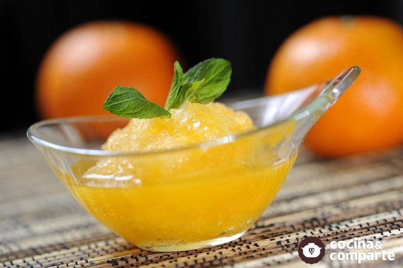 Sorbete de mandarina