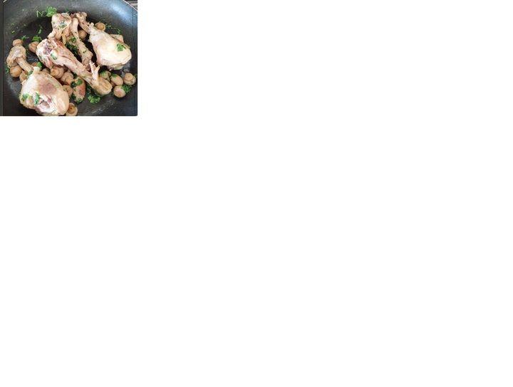 Sartén de pollo con champiñones